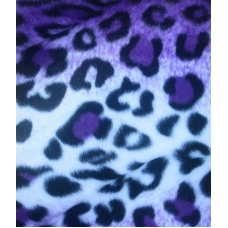 Fake Fur Purple and White Leopard Winter Coat