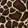 Fake Fur Giraffe Print Winter Coat