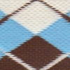 Argyle - Brown and Aqua 1.5 inch