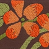 Blossom (orange on brown) 1.5 inch