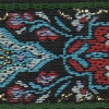 Needlepoint Flowers in blue 1.5 inch