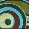 Geometric Circle (turquoise and brown) 1.5 inch