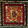 Nestled Squares (rust, red, gold) 1.5 inch