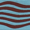 Wave: Aqua and Brown 1.5 inch