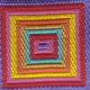 Colorful Nested Squares 1.5 inch