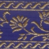 Gold Flowers on Blue 1.5 inch