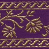 Gold Flowers on Purple 1.5 inch