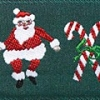 Santa with Candy Canes 1.5 inch