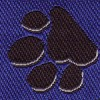 Bone and Paw Blue 1 inch