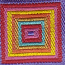Colorful Nested Squares 1 inch