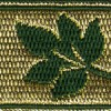 Leaves on Gold (Green) 1 inch