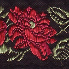 Flowers and Leaves (Red) 1 inch