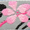 Blossom (pink on gray) 3/4 inch
