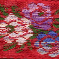 Three Flowers on Red 3/4 inch