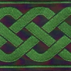Celtic Lace - Green and Black 2 inch