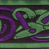 Celtic Hounds (Green and Purple) 2 inch