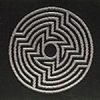 Labyrinth (black and white) 2 inch