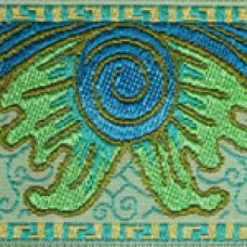 Baroque (turquoise, lime green) 2 inch