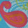 Paisley (turquoise and pink) 2 inch
