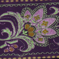 Elizabethan Flower - Purple 2 inch